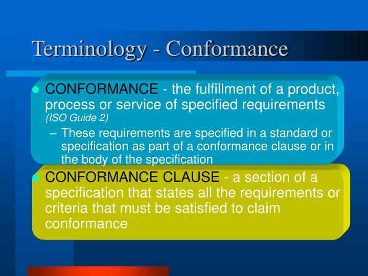 Terminology - Conformance