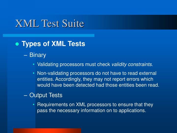 XML Test Suite