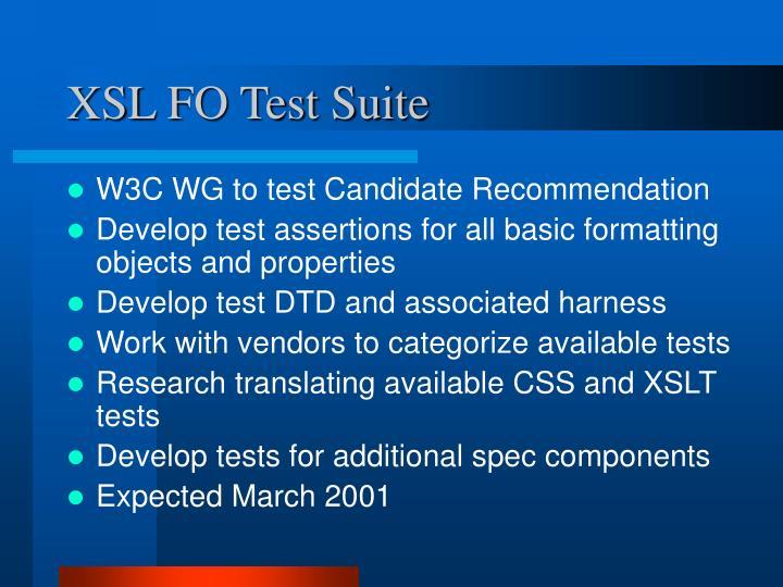 XSL FO Test Suite