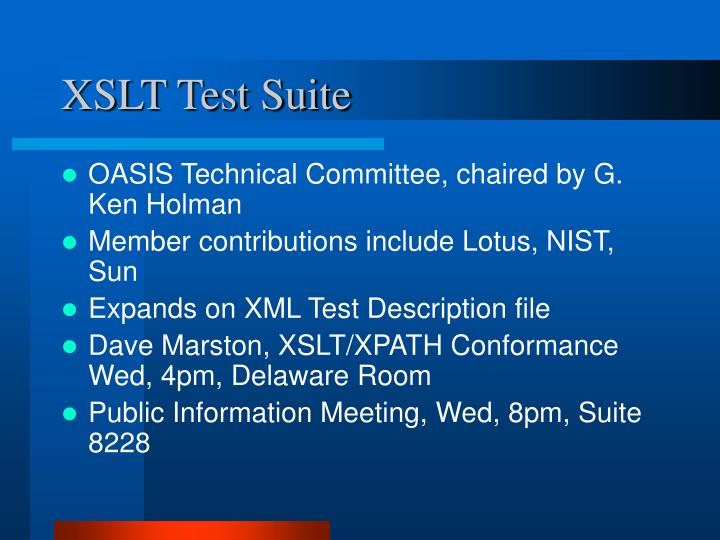 XSLT Test Suite