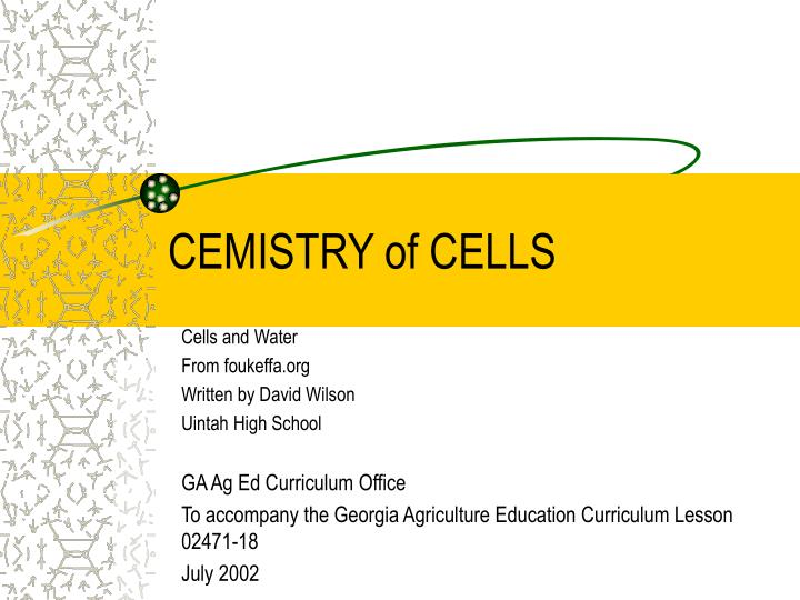 cemistry of cells n.