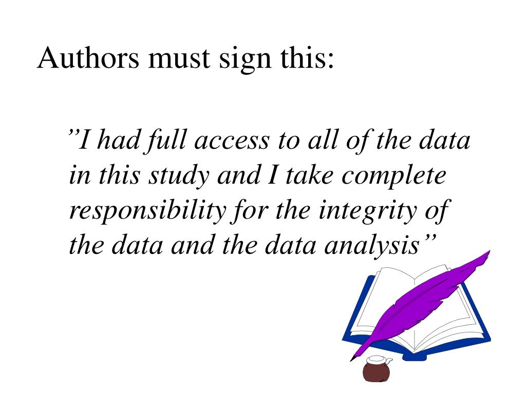 Authors must sign this: