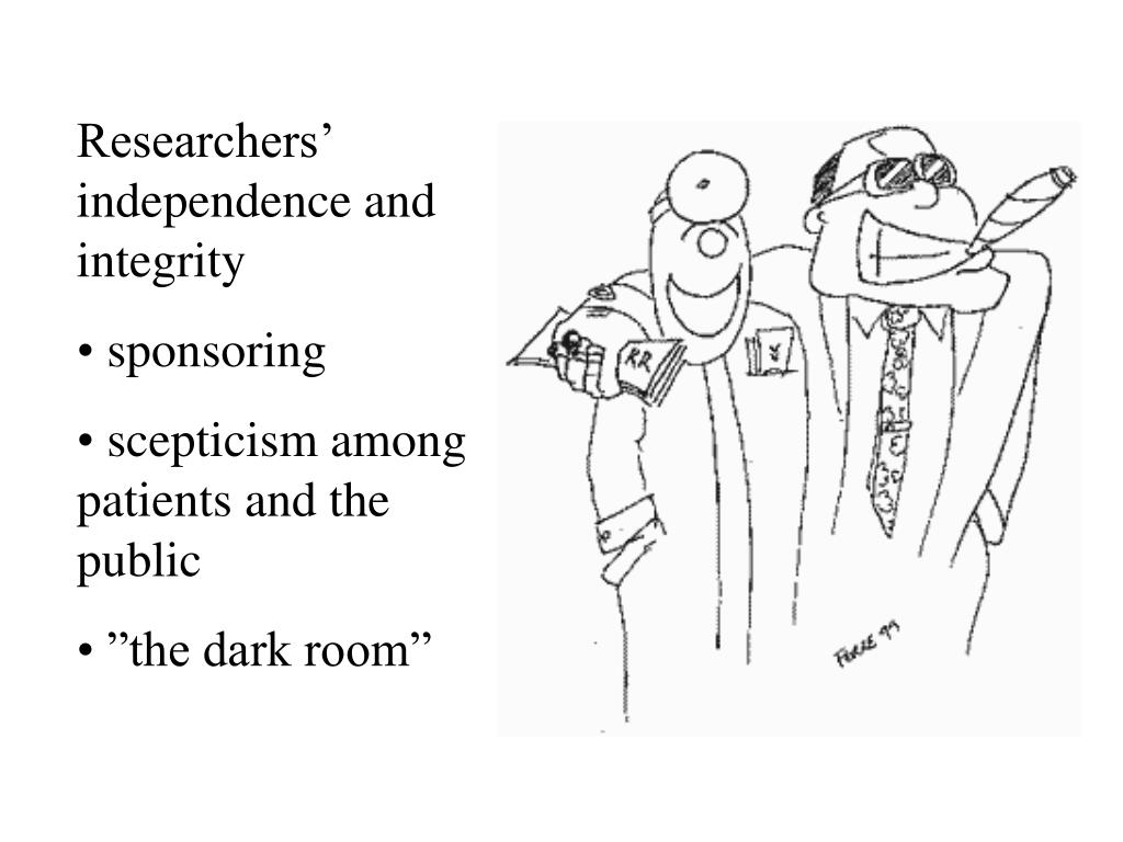 Researchers' independence and integrity