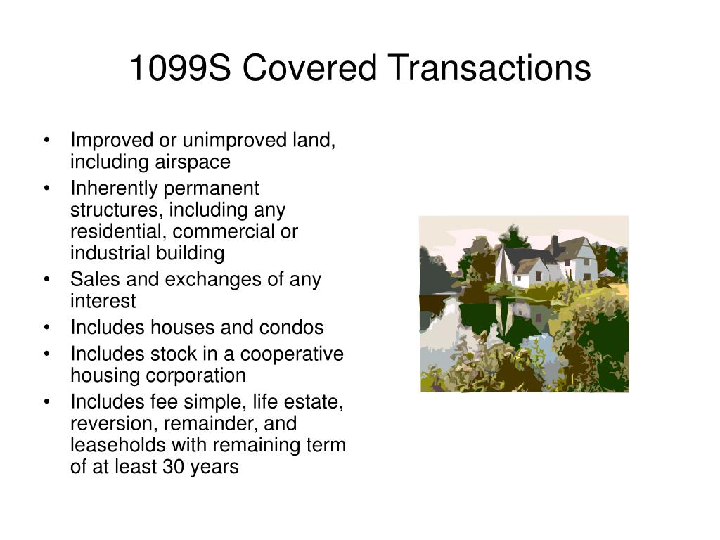 1099S Covered Transactions