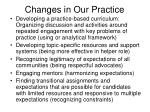changes in our practice