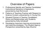 overview of papers