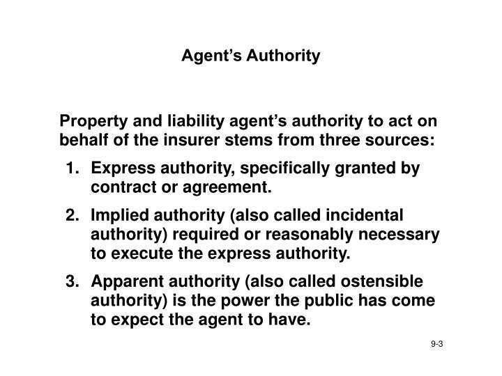 Agent s authority