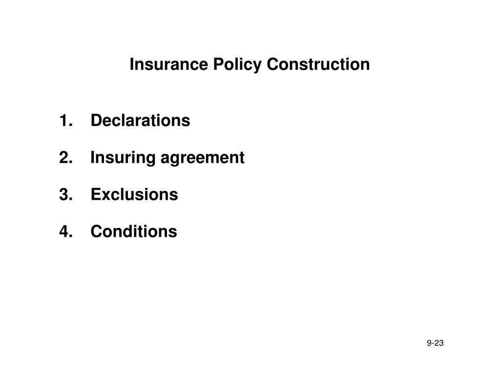 Insurance Policy Construction