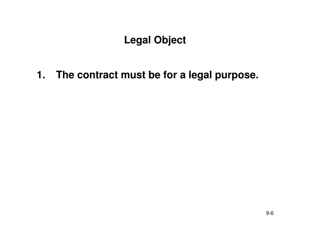 Legal Object
