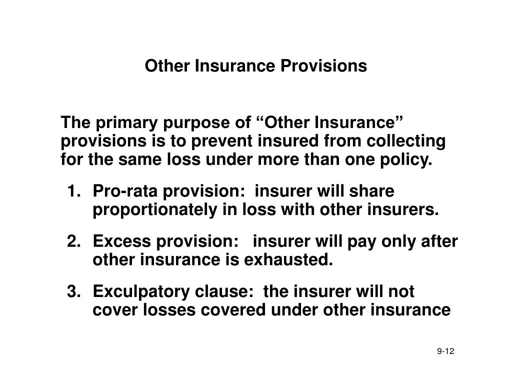 Other Insurance Provisions