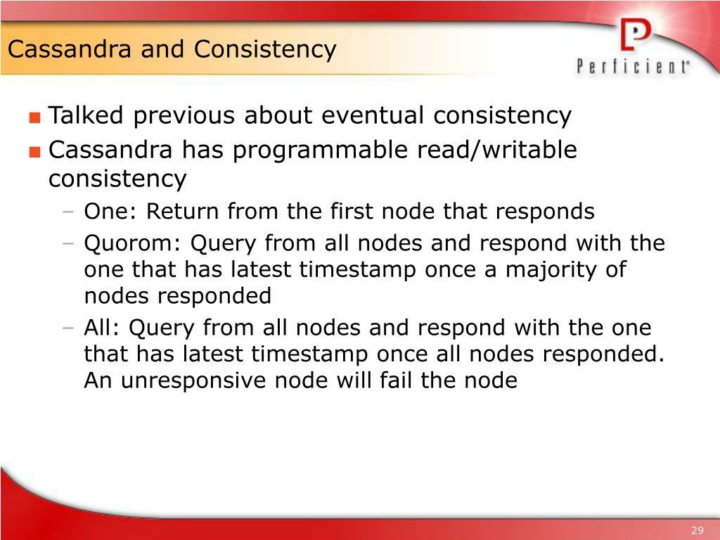 Cassandra and Consistency