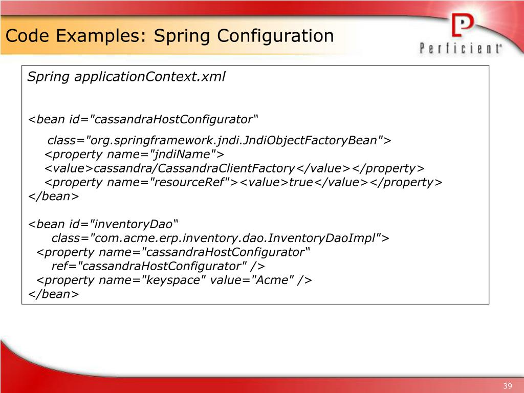 Code Examples: Spring Configuration