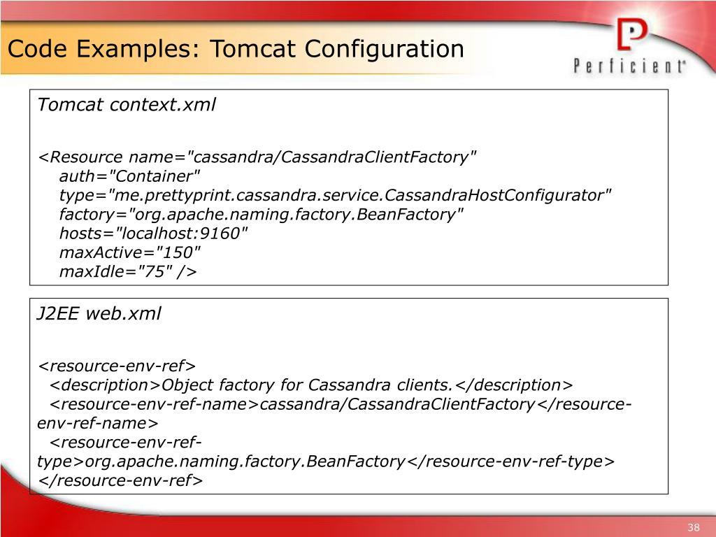 Code Examples: Tomcat Configuration
