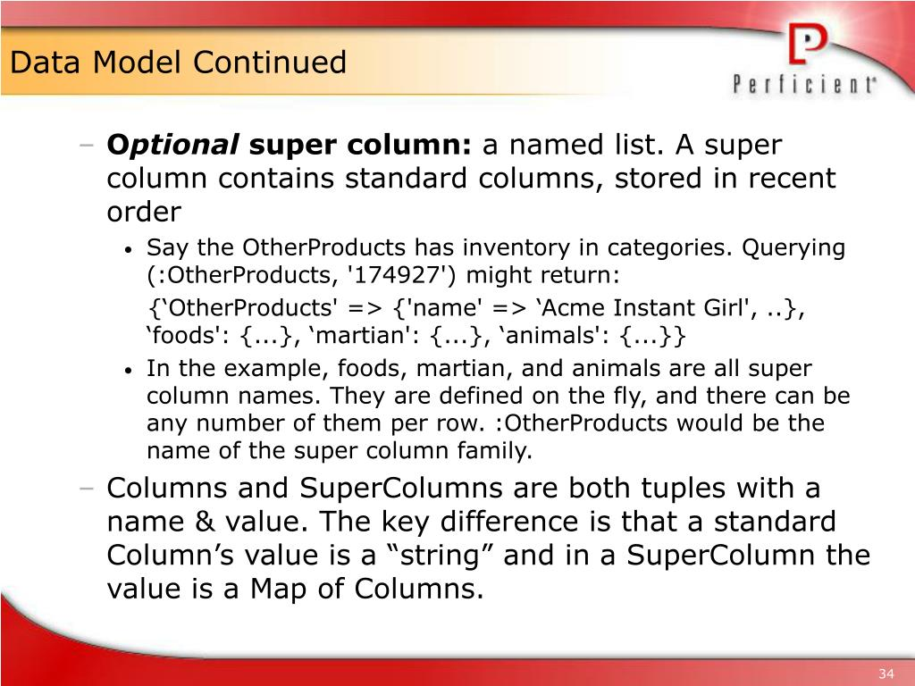 Data Model Continued