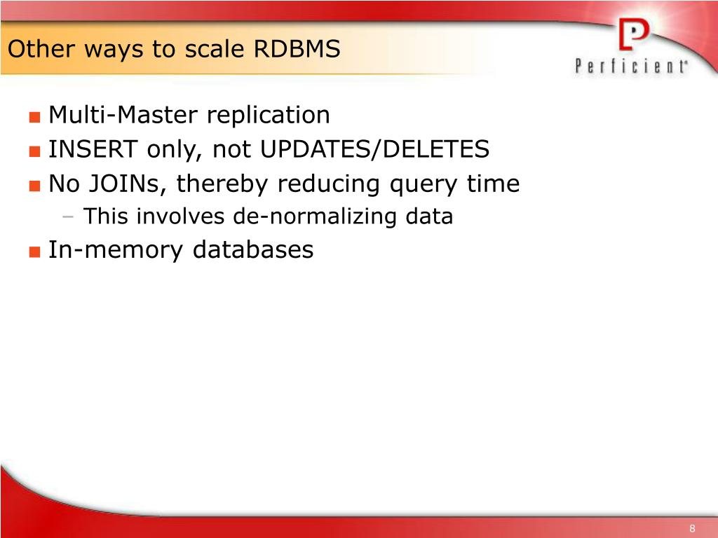 Other ways to scale RDBMS