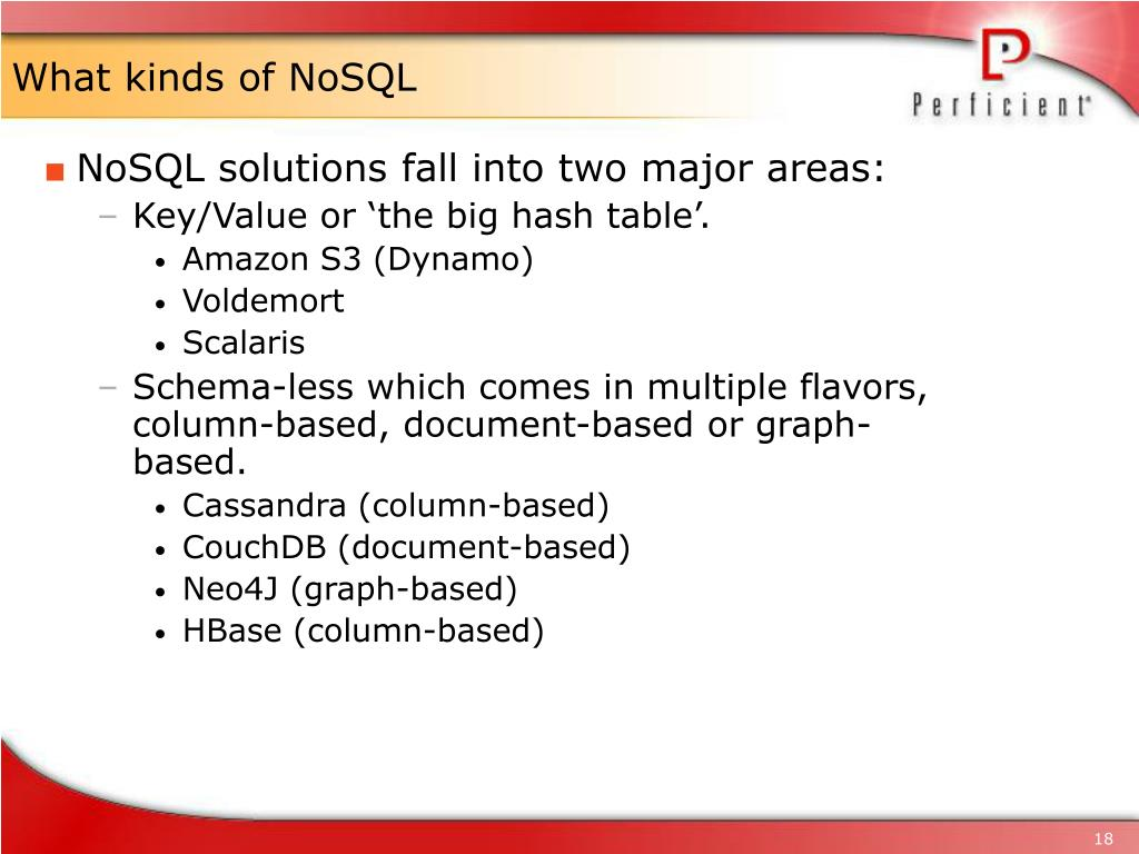 What kinds of NoSQL
