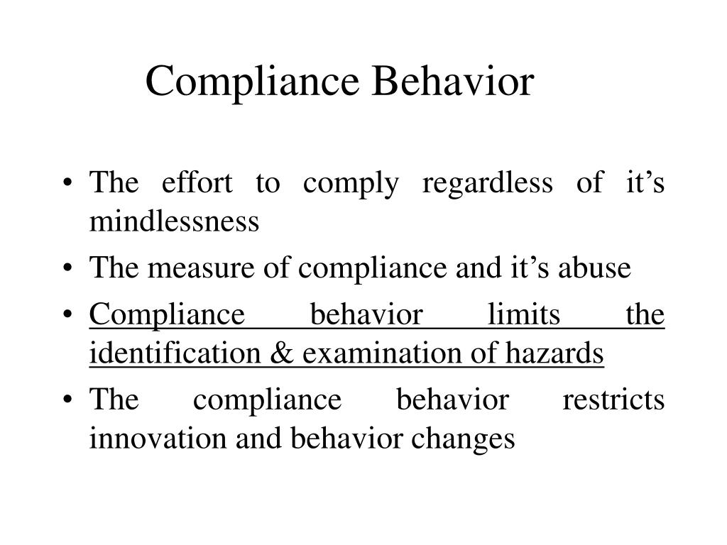 Compliance Behavior