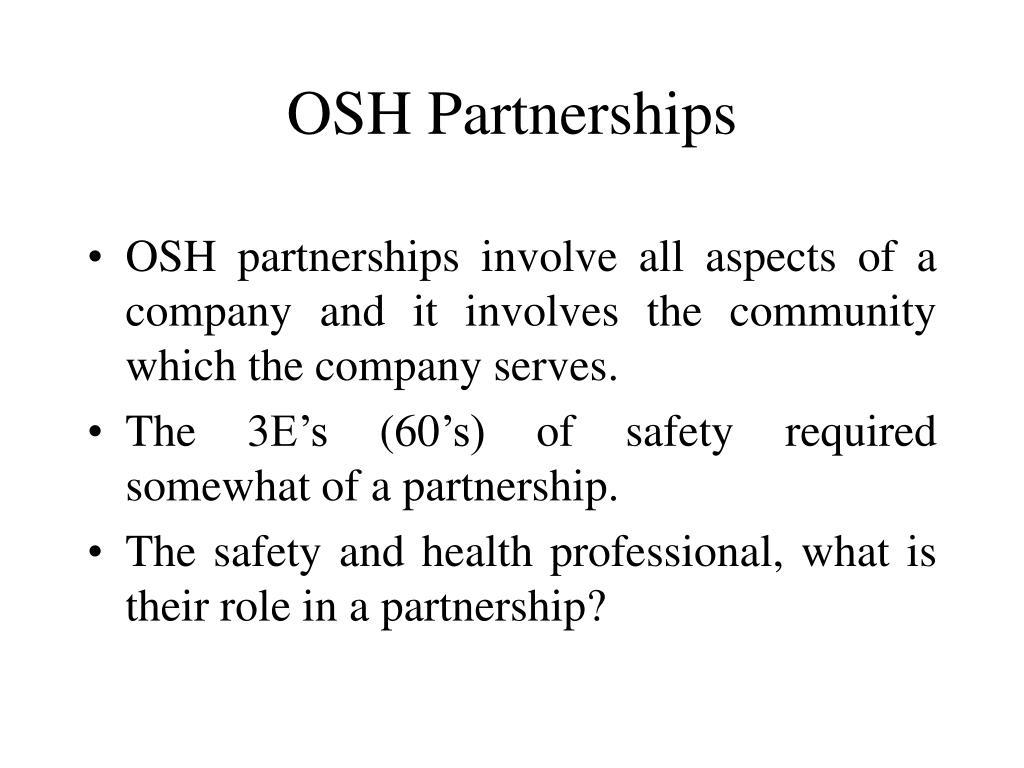 OSH Partnerships