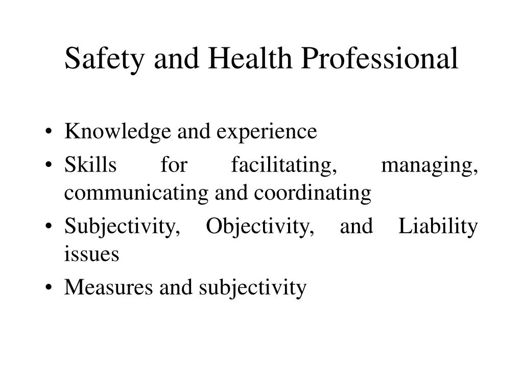 Safety and Health Professional