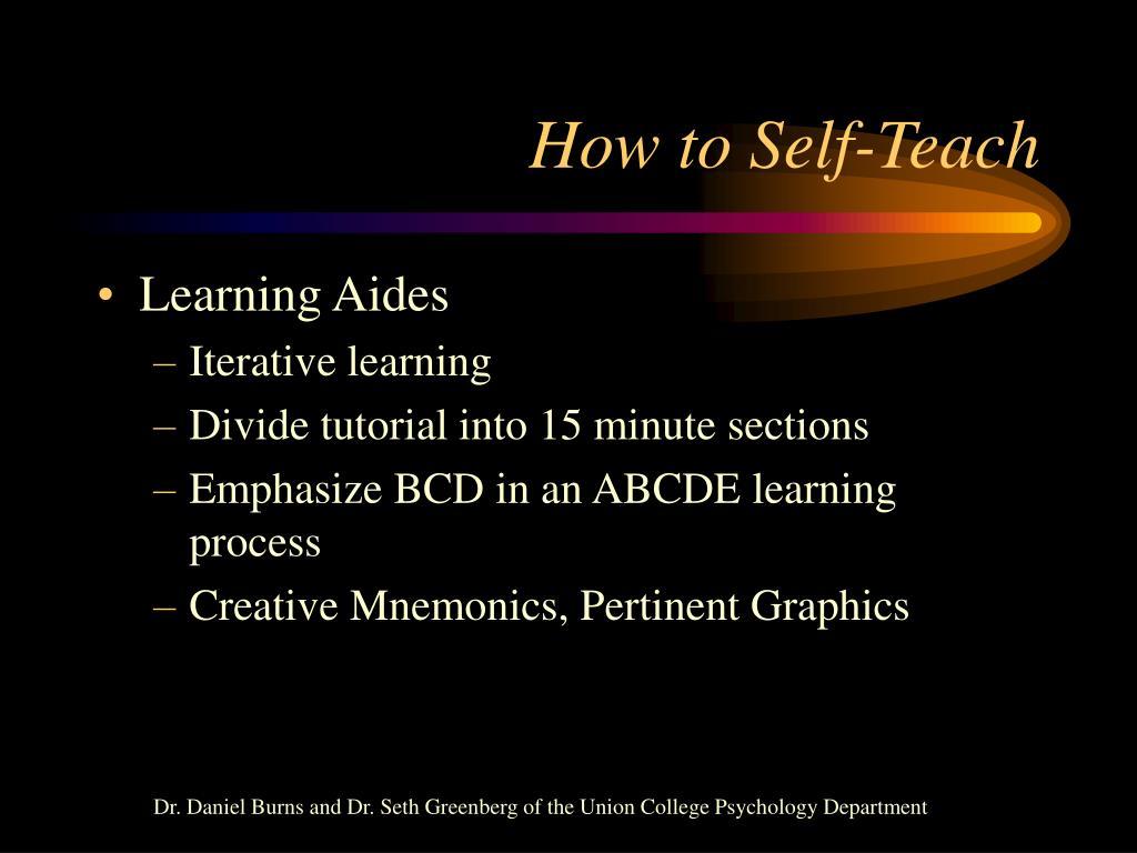 How to Self-Teach