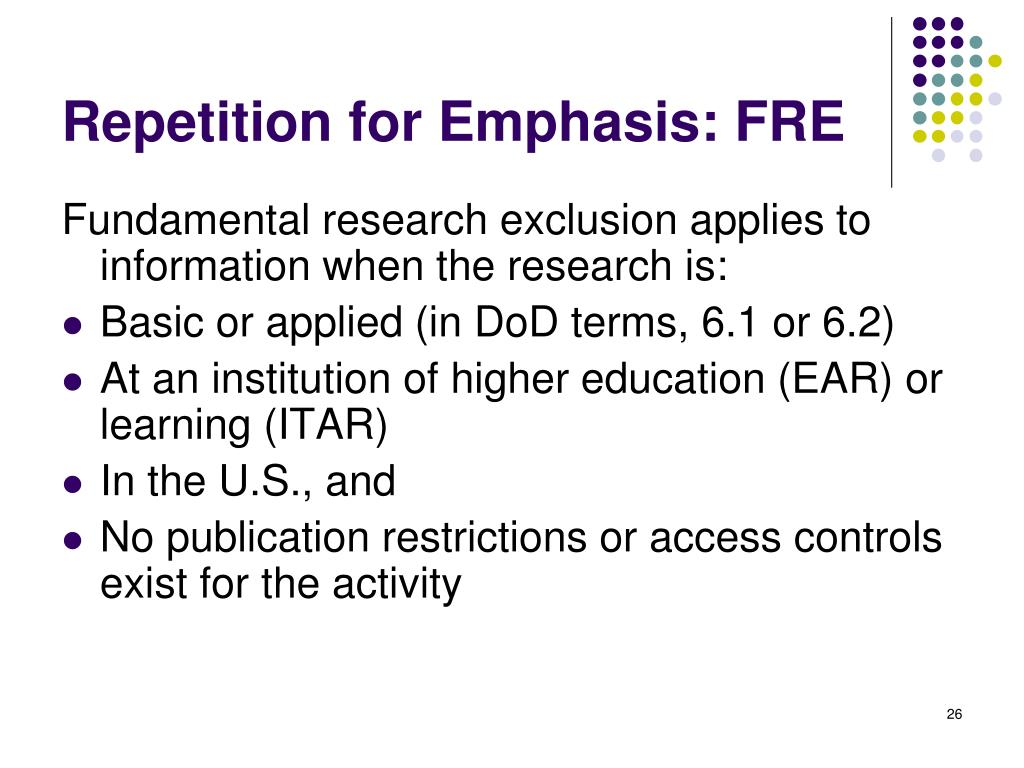 Repetition for Emphasis: FRE
