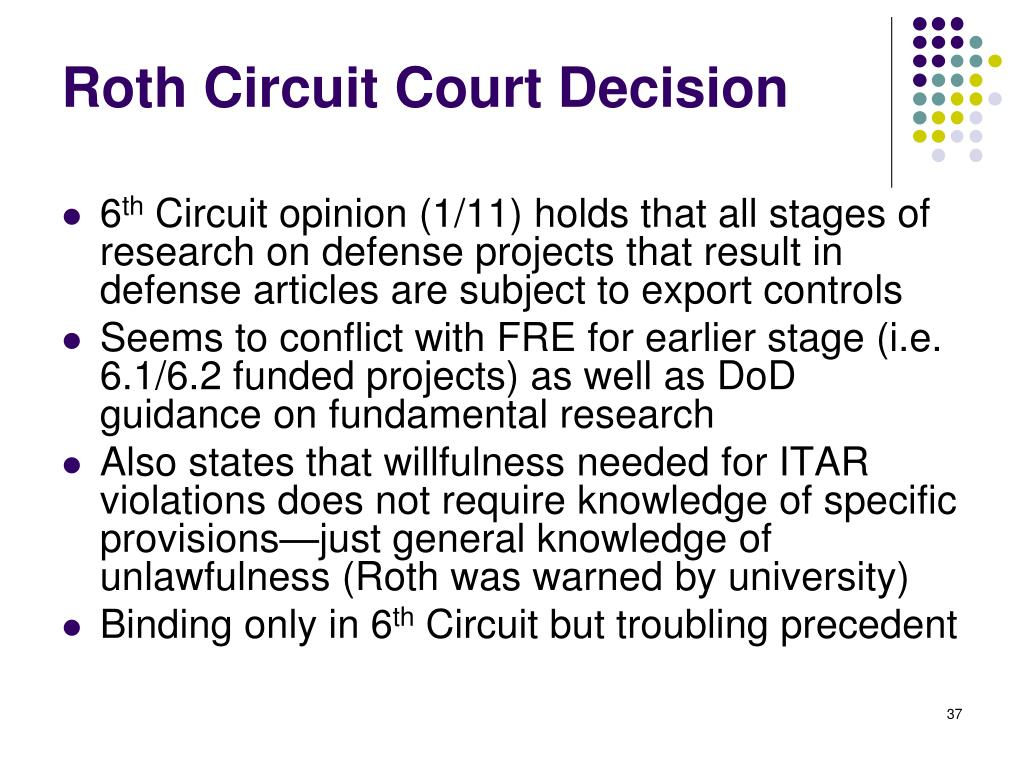 Roth Circuit Court Decision