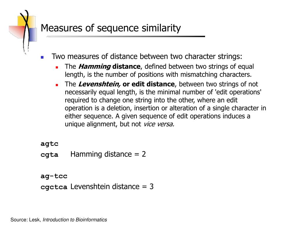 Measures of sequence similarity