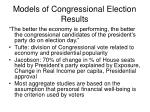 models of congressional election results