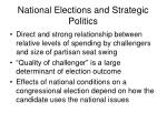 national elections and strategic politics20
