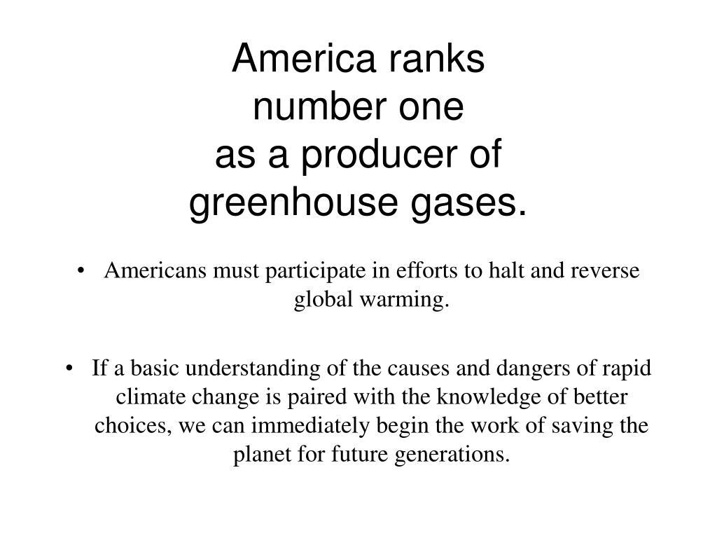 America ranks