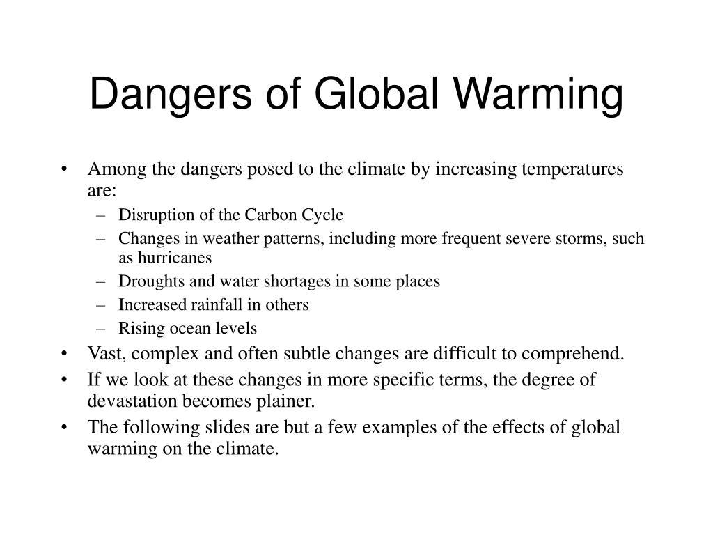 Dangers of Global Warming