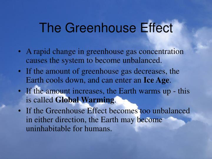 The greenhouse effect3