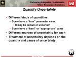 quantity uncertainty