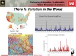 there is variation in the world