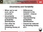 uncertainty and variability