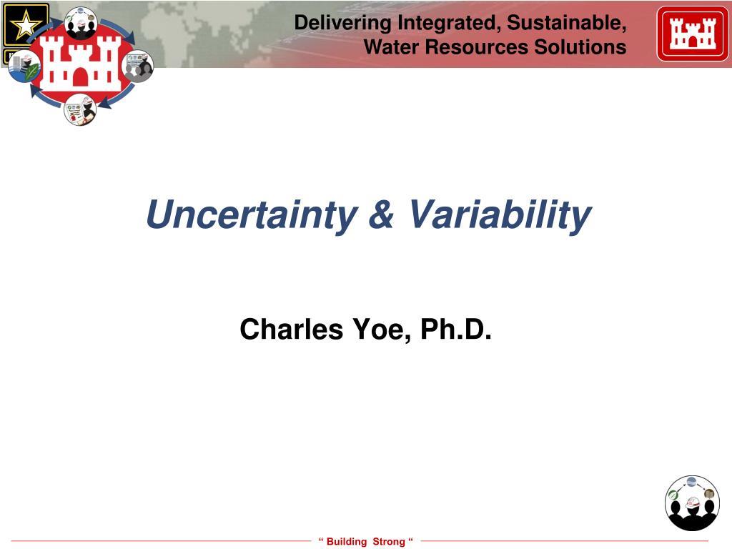 uncertainty variability