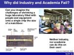 why did industry and academia fail