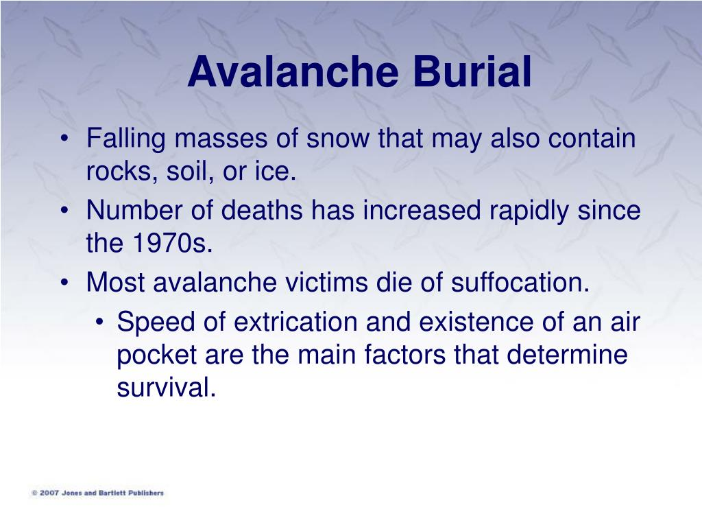 Avalanche Burial