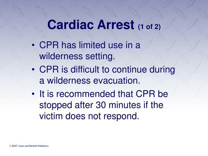 Cardiac arrest 1 of 2