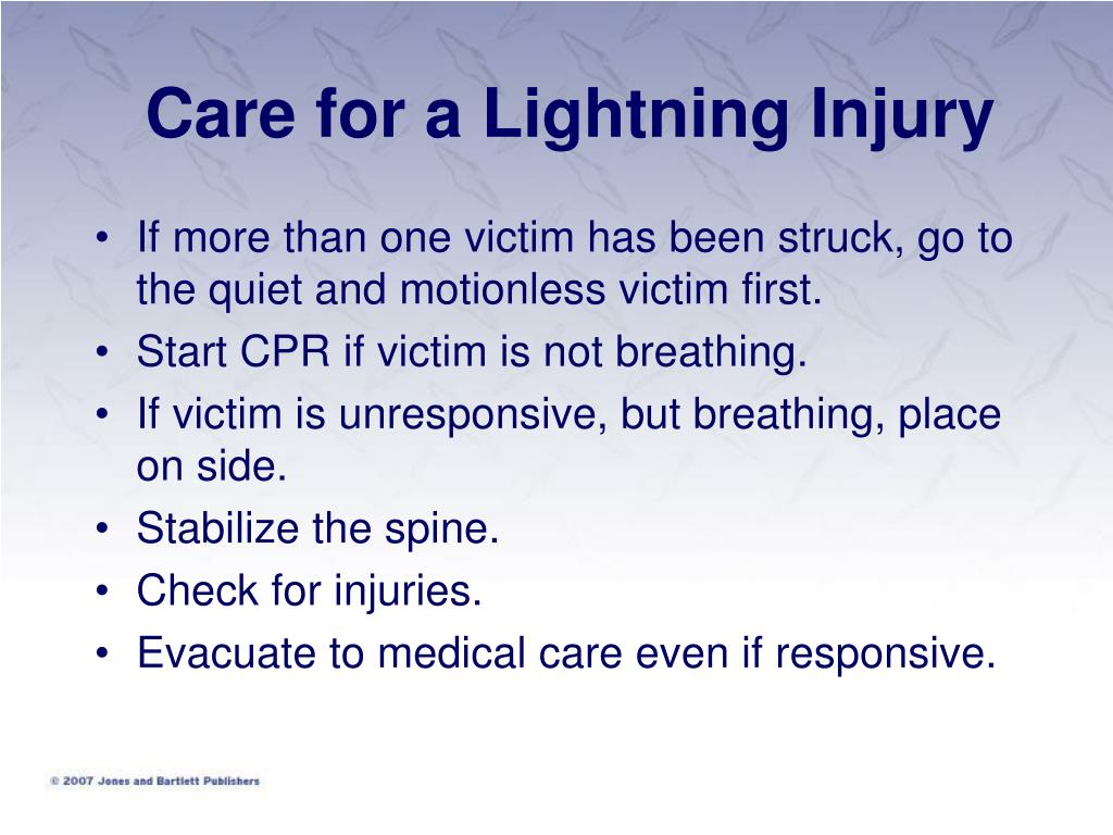 Care for a Lightning Injury