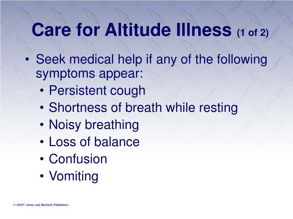 Care for Altitude Illness