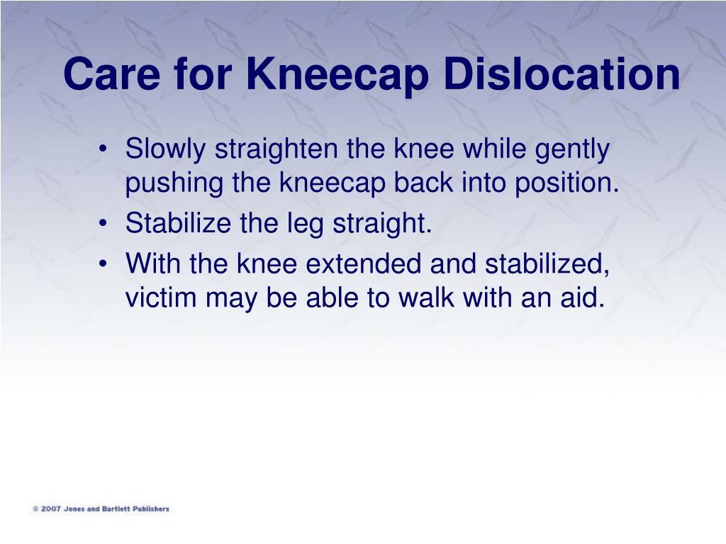 Care for Kneecap Dislocation