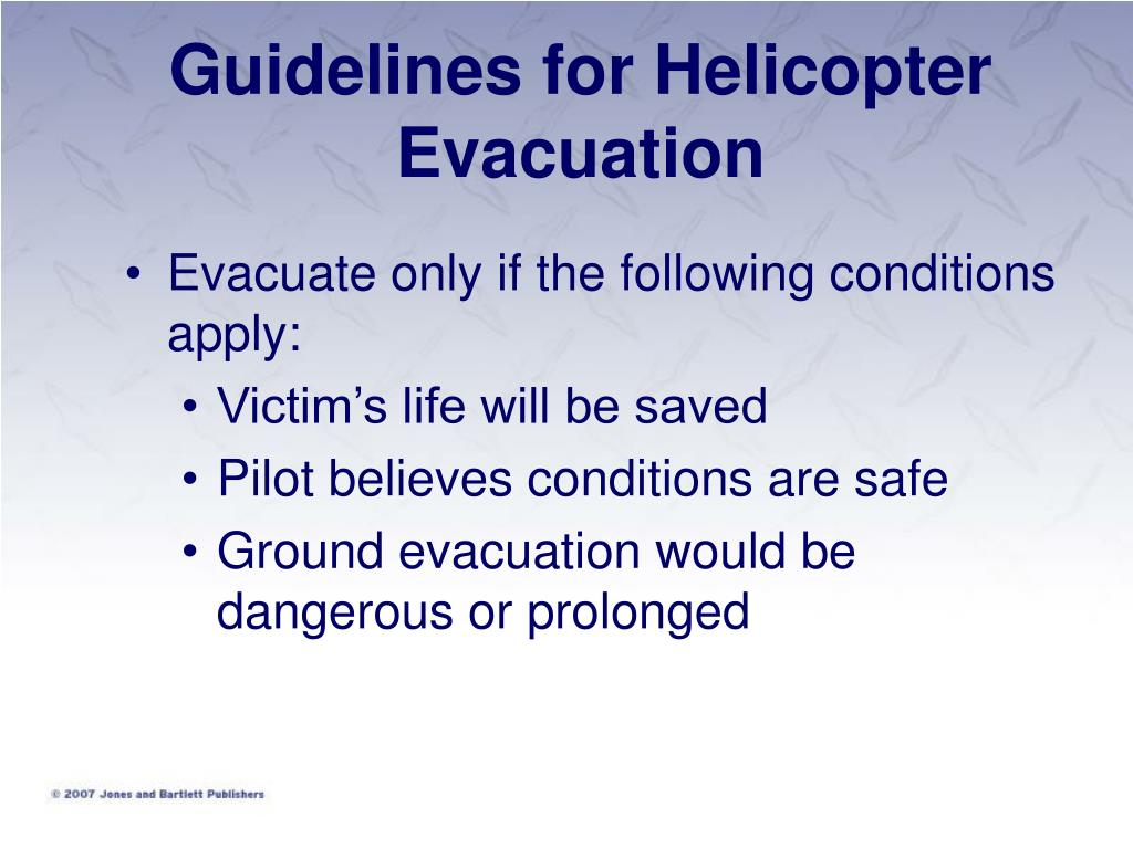 Guidelines for Helicopter Evacuation