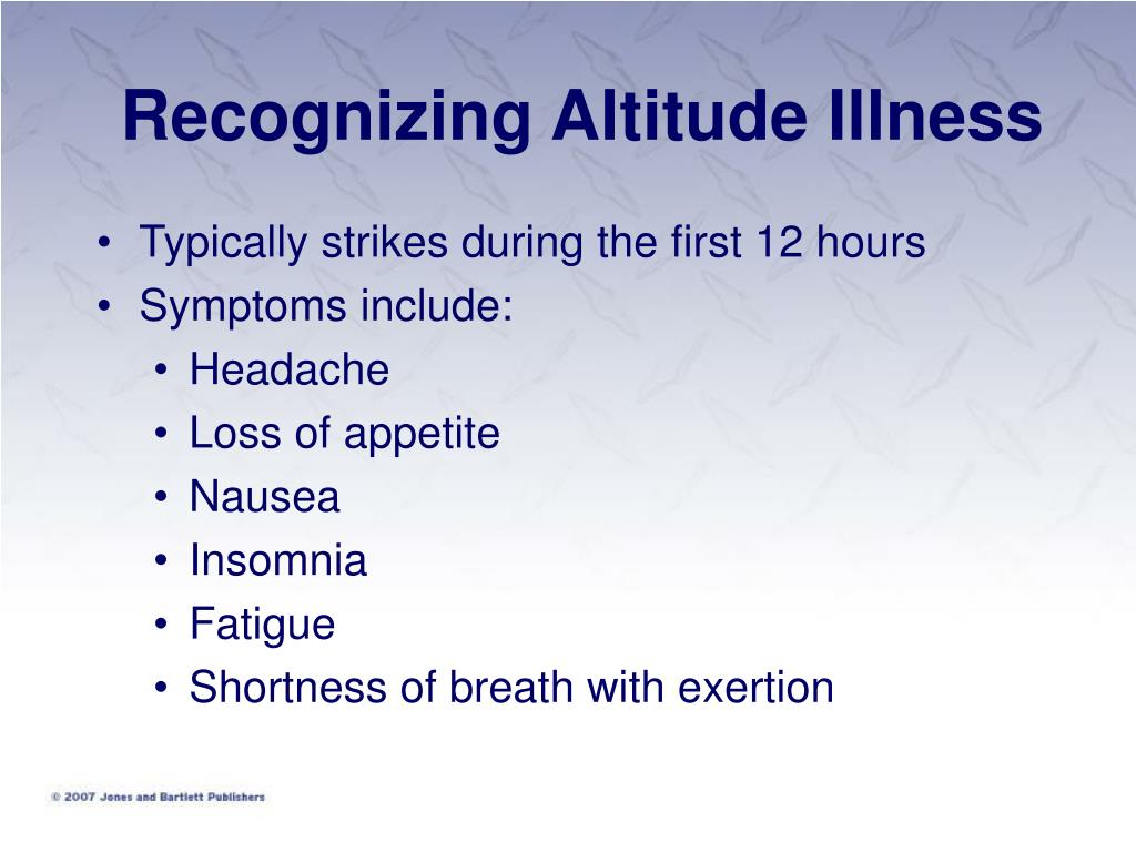 Recognizing Altitude Illness