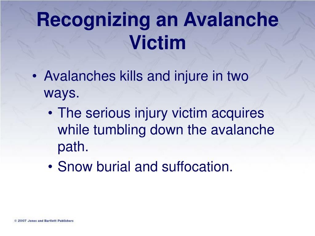 Recognizing an Avalanche Victim