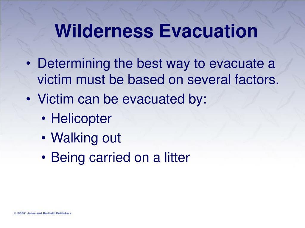 Wilderness Evacuation
