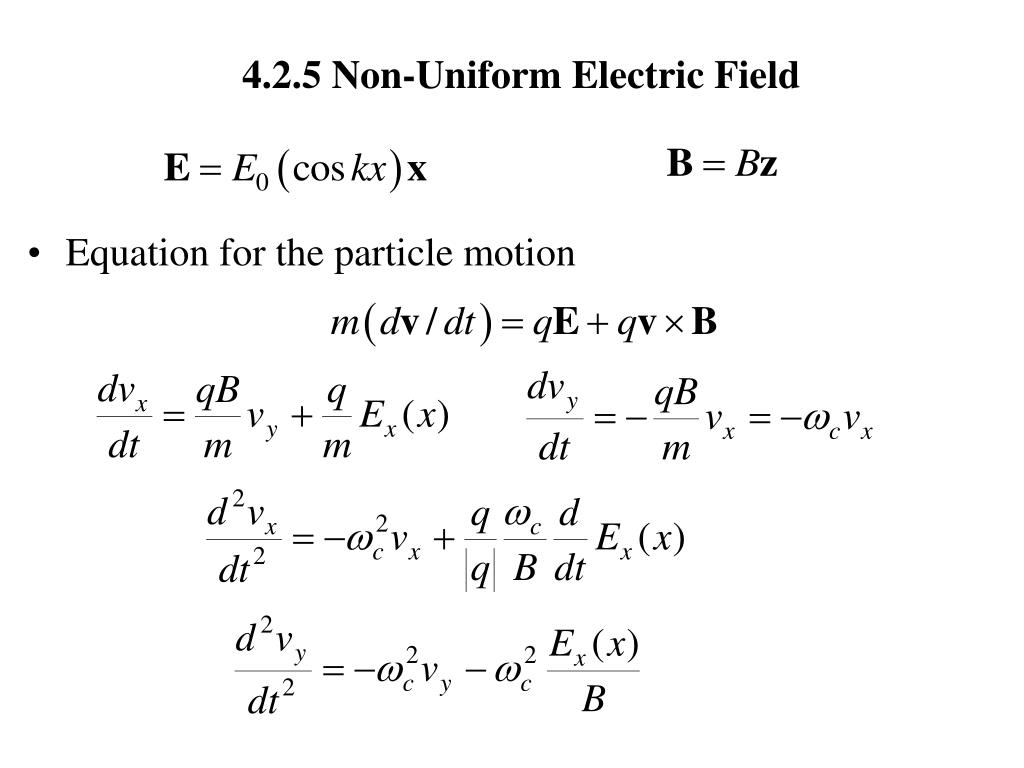 4 2 5 non uniform electric field