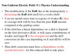 non uniform electric field v physics understanding