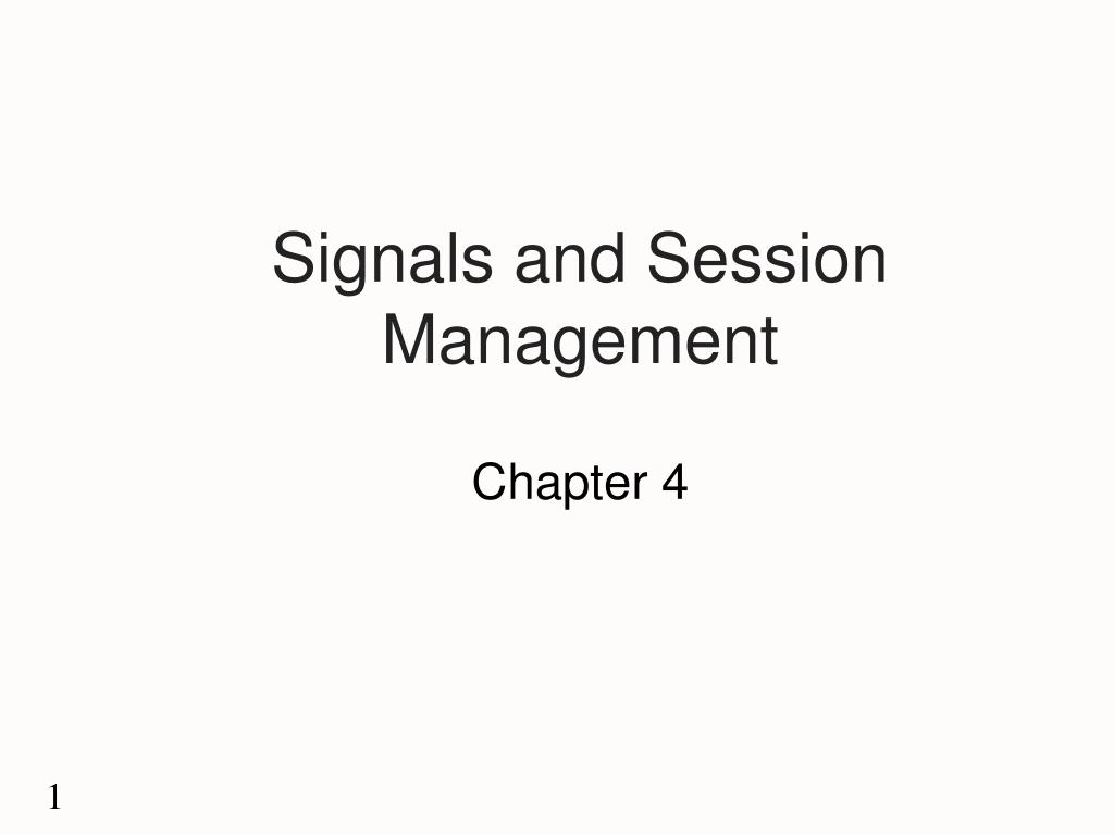 signals and session management l.