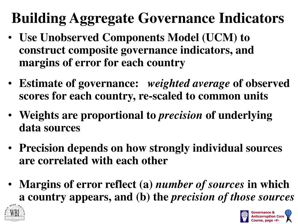 Building Aggregate Governance Indicators